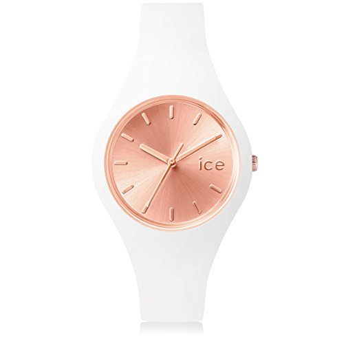 Ice-Watch - ICE chic White Rose-Gold - Women's wristwatch with silicon strap - 001399 (Small)