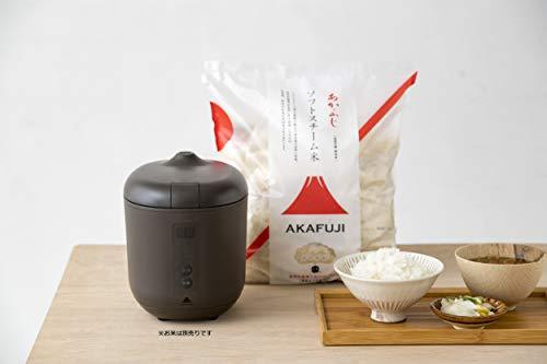 【10分ごはん】炊飯器poddi(ポッディー)(ブラウン)1.5合一人用サイズ