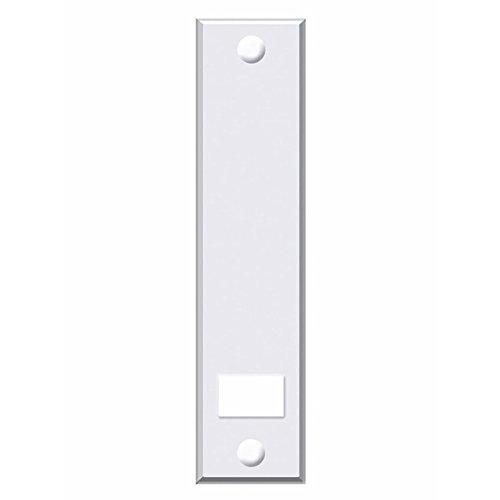 Abdeckplatte (Blende) mit Lochabstand 21,5cm eckig weiß - 2 Stück -