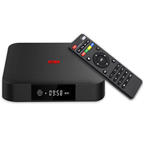 TV Box Android 7.1, Android Box 1GB RAM 8GB ROM, S1 Amlogic S905W Quad Core Smart TV Box Supporto 2.4Ghz WiFi 3D 4K HDMI H.265 Media Player