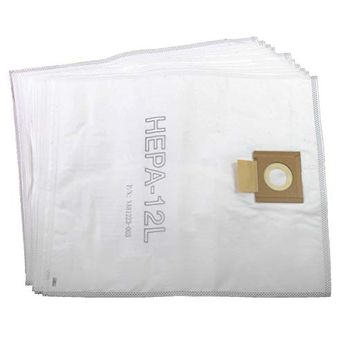 Viper (Nilfisk) VA81399-P10 HEPA SMS-Bolsas de Microfibra (12 L, 10 Unidades), Blanco