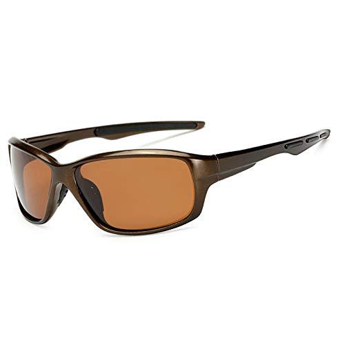 Gafas De Sol Gafas De Sol Polarizadas Hombres Uv400 Gafas De Sol Cuadradas Retro Hombres Espejo Vintage Deportes Antideslumbrante-Marrón