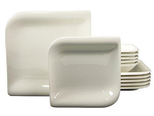Creatable 19591 Service de Table, Porcelaine, Blanc, 34,1 x 32 x 32,5 cm