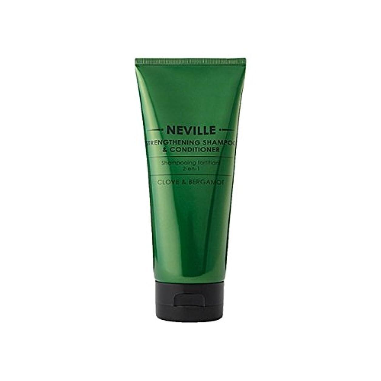 吸収剤ずらす舌ネビル2--1強化シャンプー及びコンディショナー200 x4 - Neville 2-In-1 Strengthening Shampoo And Conditioner 200ml (Pack of 4) [並行輸入品]