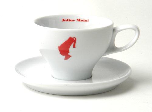 Meinl Cappuccino Tasse weiß rotem Kopf