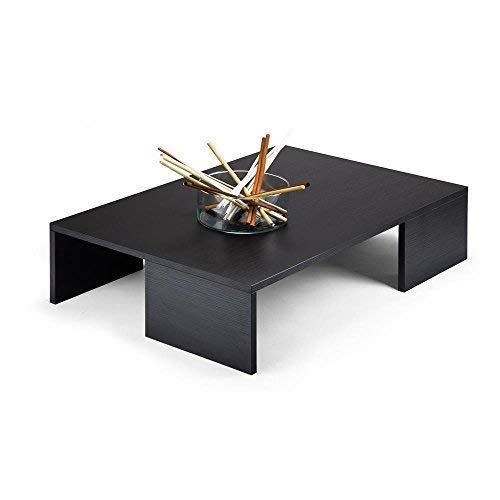 Mobili Fiver, Rachele Tavolino da Salotto, Frassino Nero, 90 x 60 x 21 cm, Nobilitato, Made in Italy, Disponibile in Vari Colori