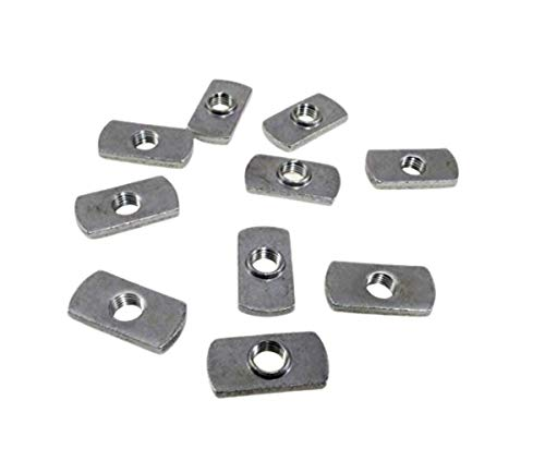 10 Pack 7/16-20 Spot Weld Nuts - Double Tab - Center Hole Design Spot Weld Nut - Low-Carbon Steel (10)