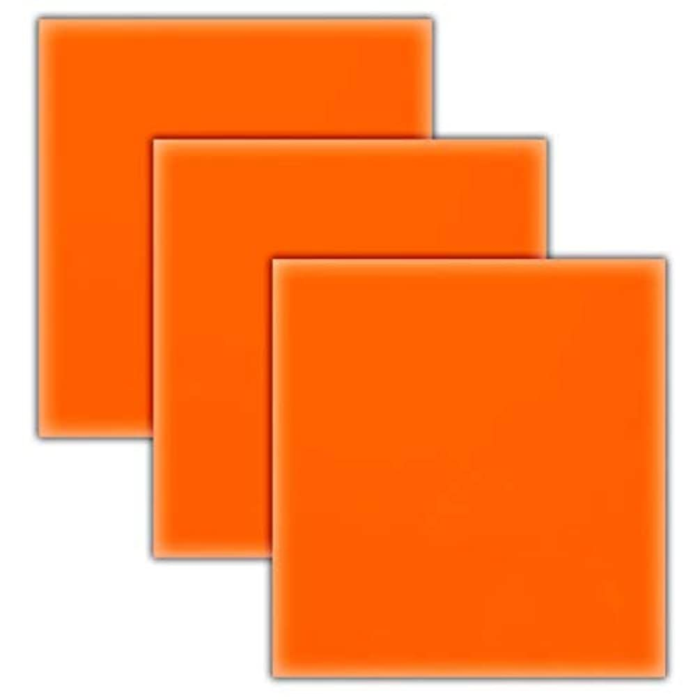 Neon Orange HTV Heat Transfer Vinyl Sheets/3 Pack Bundle/Cricut, Silhouette Cameo, Iron On Or Heat Press Machine/Make Amazing T Shirts/Superb Quality/USA Packed-10 1/12 X 9 5/8