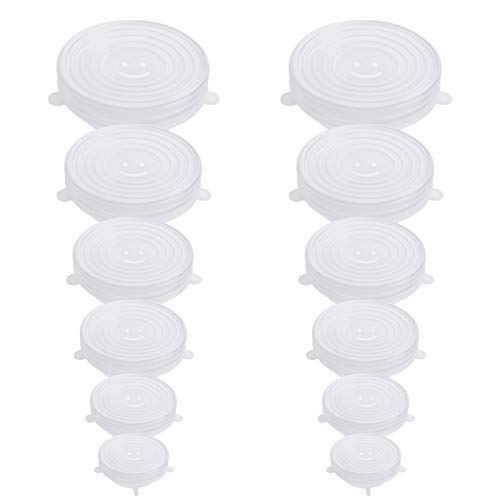 12PCS OstWony Silicone Stretch Lids, Six Specifications of Reusable...