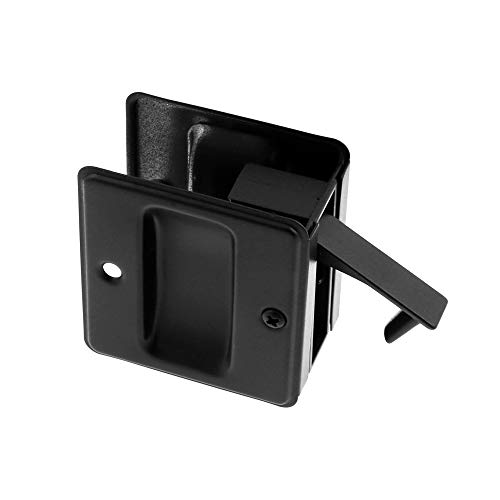 idh by St. Simons 25410-019 Premium Quality Solid Brass Pocket Passage Door Pull, Matte Black