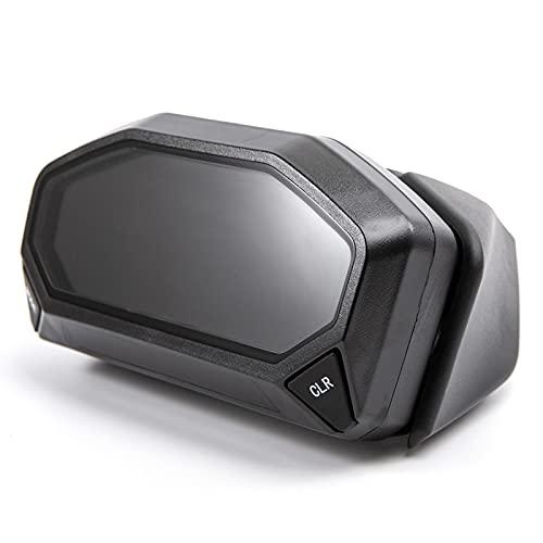 MEQNOIG Moto 12000Rpm Moderno Universal LCD Digital 6 Engranajes Motocicleta odómetro tacómetro velocímetro Ajustable MAX 199KM / H Metro