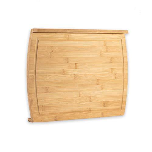 Tabla de Cortar Bambú grande Orgánica Tabla de cortar for la cocina, tablas de cortar for la cocina con el jugo de cortar de bambú Groove Juntas Orgánica Tablas de Cortar Cocina