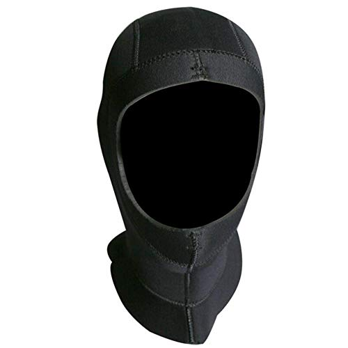 LAIABOR Neoprene Kopfhaube Professional Schutz warm Tauchen Hutbedeckung Winter Schwimmkappe Verdickungsschutz,M