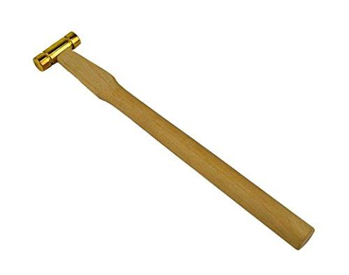 2 oz Watchmaker Jeweler's Brass Hammer Jewelry Making Tool Flat Head w/Wooden Handle