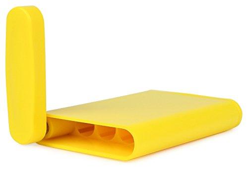 WINDMILL(ウインドミル)携帯灰皿ハニカムスリムスライド式4本収納イエロー599-1001