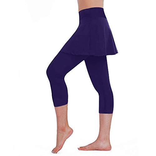 Leggings da Gonna Casual da Donna Pantaloni da Tennis Sports Fitness Ritagliati Leggings da Yoga per Donna