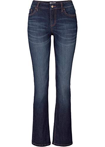 bonprix Legere Stretchjeans mit ausgestelltem Bein dunkelblau 40 für Damen