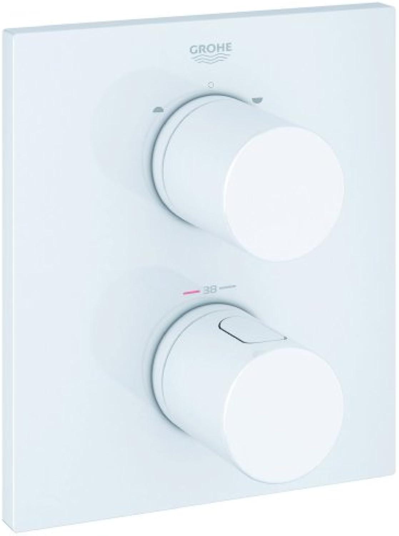 Grohe Grohtherm 3000 C Thermostat mit integrierter 2-Wege-Umstellung für Wanne oder Dusche mit mehr als einer Brause, moon wei 19567LS0