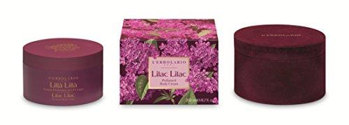 L'Erbolario Lilla - Crema corporal en caja de terciopelo, 200 ml