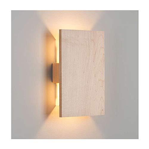 *applique murale interieur Applique murale LED en bois nordique de salon de café de chambre à coucher éclairage Chambre (Couleur : A-20cm)