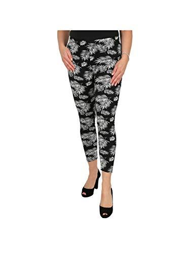 Unbekannt Damen-Thermo-Leggings 'Janina' schwarz/weiß | Damenmode | Damen-Hose | Stoffhose