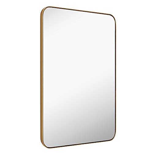 MIRROR TREND 22 x 30-Inch Large Rectangular Wall Mirror with Glass Panel -