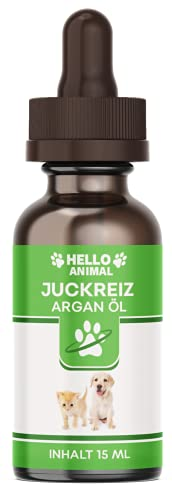 NEU: HelloAnimal JUCKREIZ ARGAN ÖL für Hunde & Katzen bei Hautreizungen, pflegt Haut und Fell bei Läuse, Flöhe, Milben – SOFORTHILFE
