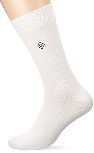 GANT Herren D1. Single Rib Socken, Eggshell, One Size