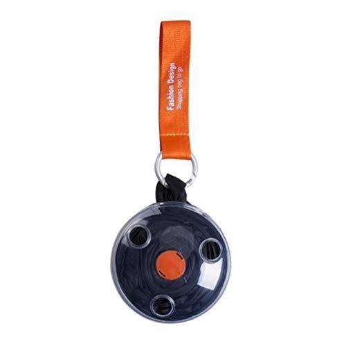 Bolsa de Compras de Disco pequeño telescópica Plegable portátil Ultra pequeña Bolsa de Almacenamiento multifunción Cinturón Durable-Negro BCVBFGCXVB