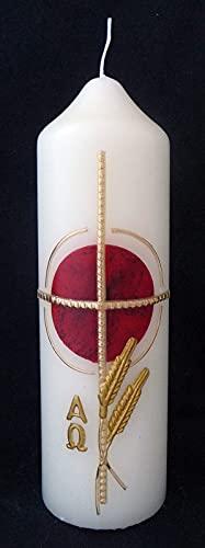 Candela pasquale con rivestimento in cera, circa 180 x 50 cm