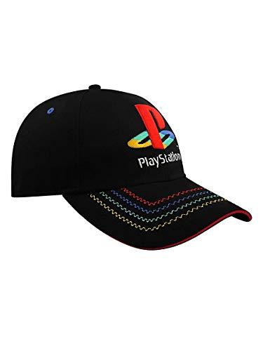 Coole-Fun-T-Shirts Playstation Cap Basecap PS Logo Stick schwarz