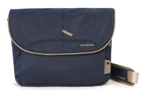Tucano CBS-L-B Scatto Messenger Tasche für Reflex Kamera Größe L (Außenfach, verstellbarer Trageriemen) blau