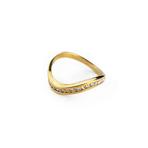 Luppino - Anillo de Mujer de Oro Amarillo de 18 Quilates 750 con Diamantes de 0,25 CT