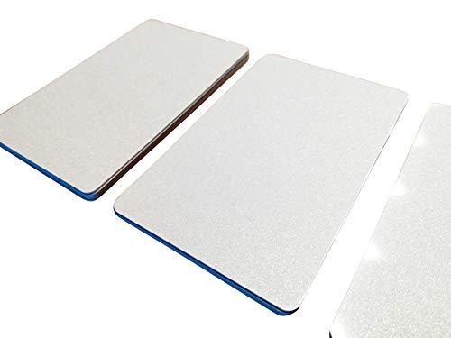 500 Premium Plastikkarten/PVC Karten Weiss Metallic, 5-500 Stück, Rohlinge, blanko, Kartendrucker, NEU! (500)