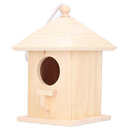 Birdhouses Mini Kit de casa para pájaros de madera para niños y adultos para construir al aire libre Colgando Diy Comedero completo para pajareras Hogar Mascotas Jardín Suministros Productos para aman