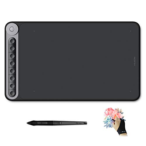Huion Inspiroy Dial Q620M Wireless Graphics Drawing Tablet 10 x 6 Inch Art Tablets, 8 Press Keys and Dial Controller, Tilt Function, 8192 Battery-Free Pen, Android Supported
