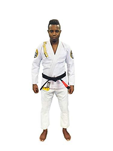 Legendary Warrior 3.0 Premium IBJJF BJJ Jiu-Jitsu Gi/Kimono (White/Brown, A-2L)