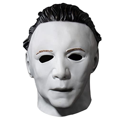 PYapron Mscara de Ltex de Michael Myers para Adultos, Pelcula de Terror de Halloween Cosplay Ltex Adulto Cara de Casco Completo Fiesta Scary Prop,Disfraz de Terror Cosplay para Carnaval,Style 6
