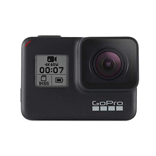 GoPro  HERO7  Black  -  Cámara  de  acción  (sumergible hasta 10m, pantalla  táctil,  vídeo  4K  HD,  fotos  de  12  MP, ...