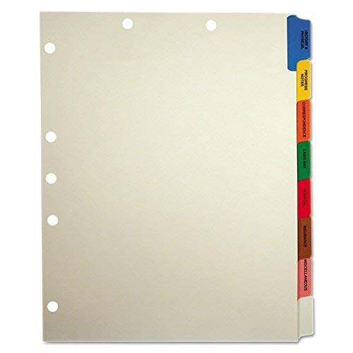Doctor Stuff - Stock Medical Chart Divider Sets, Side Tab, 9