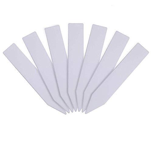KINGLAKE 100 pcs épais marqueurs de Plantes en Plastique Blanc 10x2cm étiquettes de semences de Jardin imperméables étiquettes de Jardin réutilisables