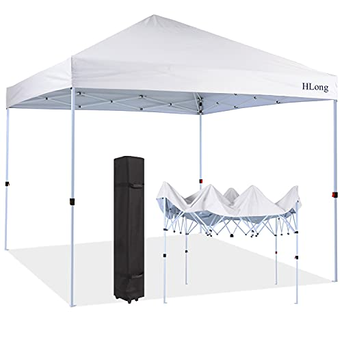 10X10FT Easy Pop up Canopy Tent Outdoor Instant Sun Shelter (White)