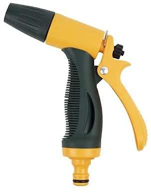 Virsus Pistola a Getto Variabile da giardino,di colore verde e gialla, Doccetta a spruzzo getto ad alta pressione ideale per innaffiare piante, lavaggio auto, terrazzo