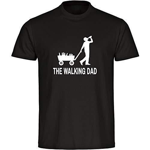 T-Shirt Bollerwagen The Walking Dad Herrentour Vatertag schwarz Herren Gr. S bis 5 XL - Lustig Witzig Sprüche Party Geschenk Funshirt