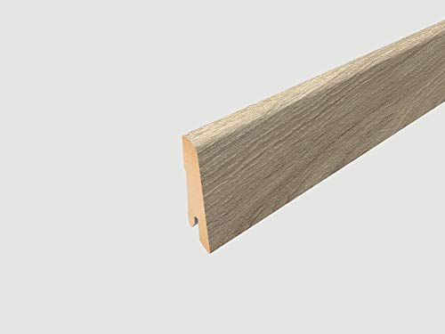EGGER Home Sockelleiste beige L323 Fußleiste | Bodenleiste 2,4m passt zu EHL039 Parkett Eiche