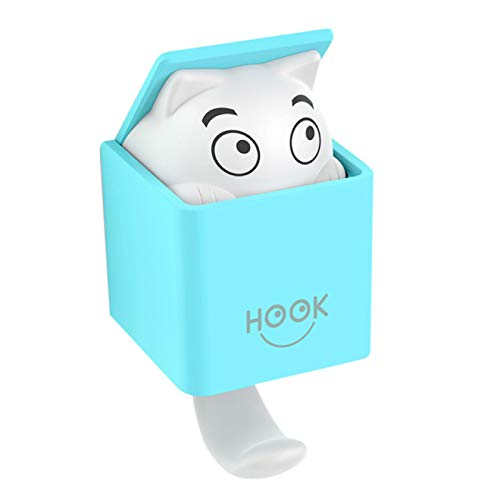 IADZ Sticky Hook,1PC Suction Cup Hooks Strong Cat Cute Cartoon Gravity Wall Hook Hanger Kitchen Bathroom Clothes