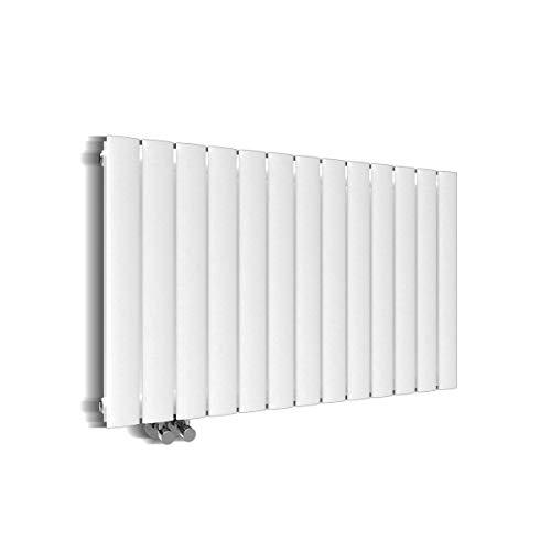 Preisvergleich Produktbild Design Heizkörper 630x1001mm Doppellagig Badezimmer / Wohnraum Seitenanschluss Weiß Flachheizkörper Badheizkörper Radiator