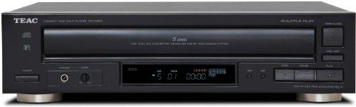 TEAC PD-D2620 Lector y Grabador de CD - Unidad de CD (1-bit Dual, 20 Hz - 20 kHz, 100 Db, CD-DA, CD-R/RW, MP3, Analog; Tos; Coax, AA) Negro