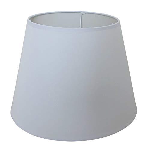 Lampenschirm/Tischleuchte/Stehlampe/25cm(U) x 16,5cm(O) x 18cm(H)/Weiß/Stoff/Oval rund / E27 / Groß