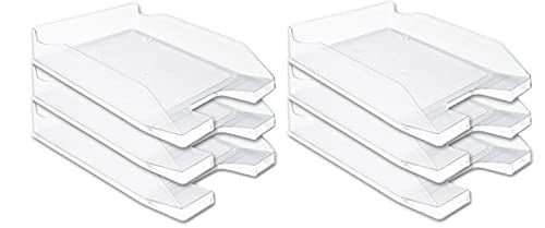 Officepaper Bandeja sobremesa plástico Transparente 6 unds. (Transparente)